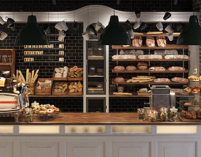 3D asset VP Real Food and Coffee Bakery