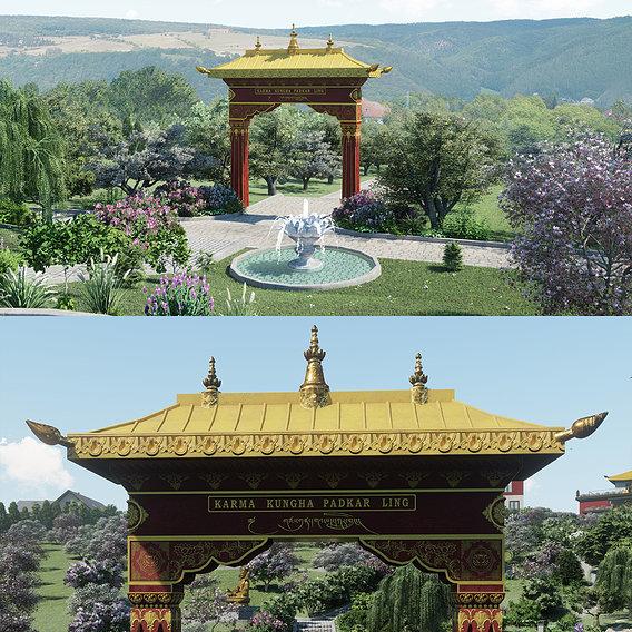 Lumion ArchViz Project - Buddhist Spa and Retreat Center - Part1