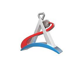 Artemis logo keychain 3D printable model