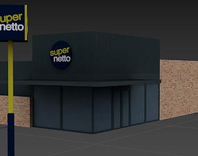 SuperNetto shop 3D asset