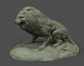 3D printable model miniatures Lion Statue