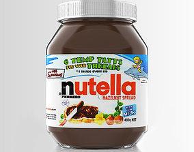 3D model Nutella jar