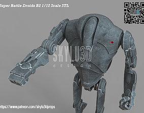 B2 Super Battle Droid Black Series Scale 3d print ready 1