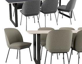 Muuto Oslo Chair And 70-70 Table 3D model