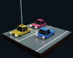 Low poly Car car 3D asset