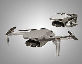 3D asset rigged DJI Mavic Mini