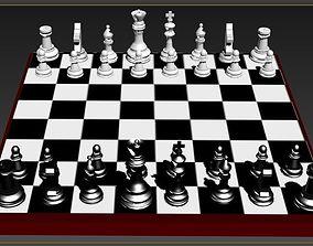 chess bord 3D model