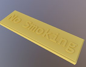 No Smoking label 3D print model