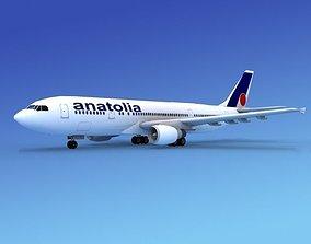 3D model Airbus A-300 Air Anatolia