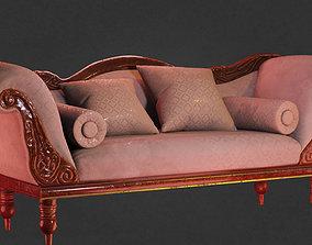 Victorian Camelback Sofa 3D asset