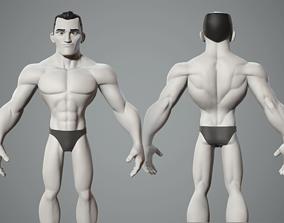 Cartoon male character base mesh 3D model disney