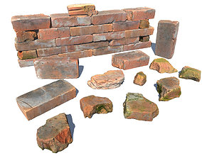 Bricks and Debris 3D model