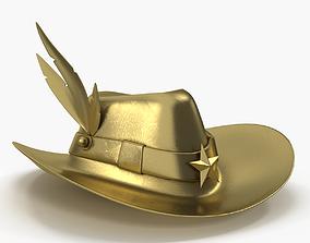 Gold Hat 3D model
