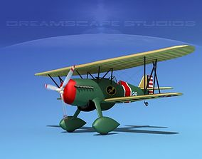 3D model Curtiss P-6E Hawk V05