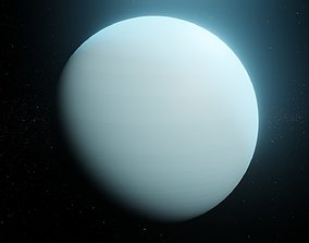 Photorealistic Uranus 8k Textures 3D Model game-ready