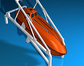 3D Life boat free fall ramp