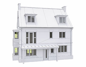 3D model VR / AR ready Neighborhood Houses P30