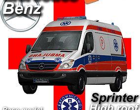 3D model Mercedes benz Sprinter Ambulance