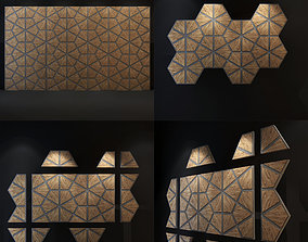 Islamic wall panel architectural 3D model