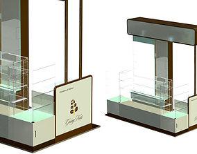 Kiosk design 3D model