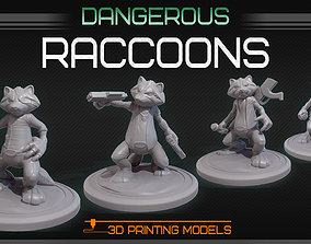 3D printable model Dangerous raccoons