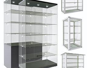 3D model Glass shelves stand