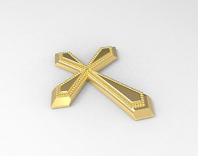 Cross pendant 3D print model chyme