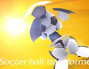 3D model Soccer ball transformer
