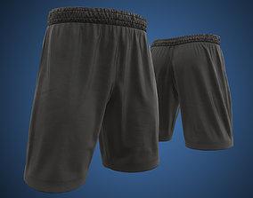 Black shorts 3D asset