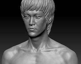 3D printable model actor Bruce Lee bust