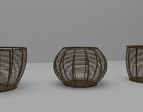 5 Pieces Bucket Low Poly 3D model