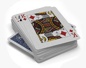 54 Playing Cards 3D asset