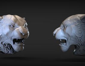 Angry Tiger head 3D printable model