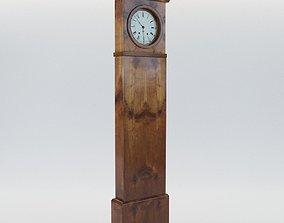 3D Biedermeier long case clock - North Germany 1820