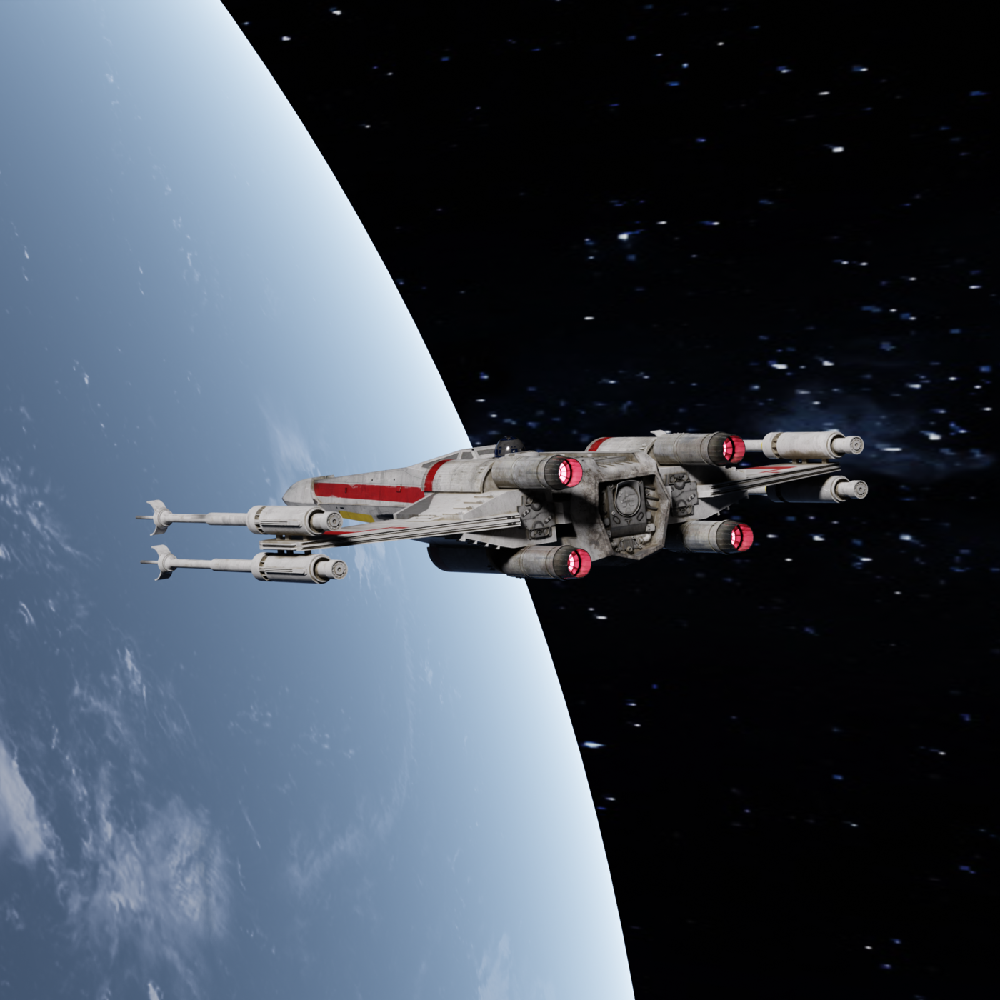 X-Wing arrival