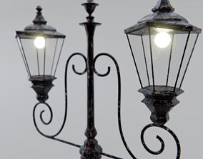 3D Old Street Lamp Post
