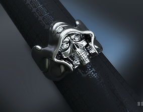 skull ring with stones 3D printable model