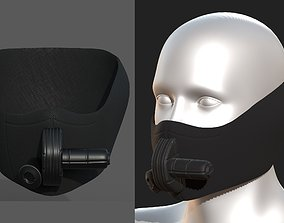 3D asset Gas mask helmet scifi fantasy armor 2