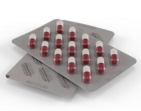 Medicine Capsules Blister Pack 3D model