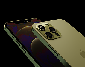 iPhone 12 Pro Max - Gold 3D asset