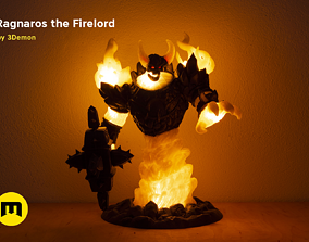 Firelord Lamp Figure Ragnaros 3D print model