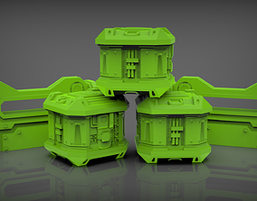 3D print model Barricades and crates warhammer 40k