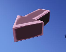 Forward arrow rigged 3D model