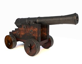 3D model Vessel Cannon Pirate Cannon