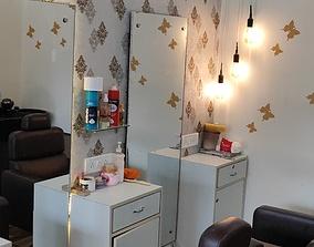 3D model Barber Shop or Salon Shop Interior 01
