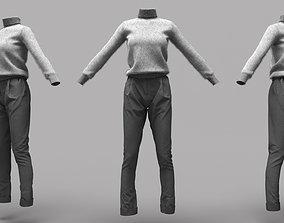 3D model Female Clothing 18