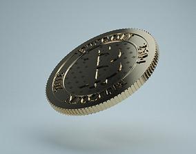 Bitcoin 3D model litecoin