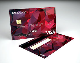 3D Credit card 4 designs