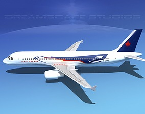 3D model Airbus A320 LP Canada Eagle