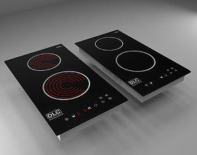 3D model DLC Built-in Induction Cooker